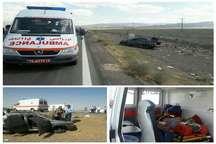 واژگونی خودرو در گناباد و 2 مصدوم