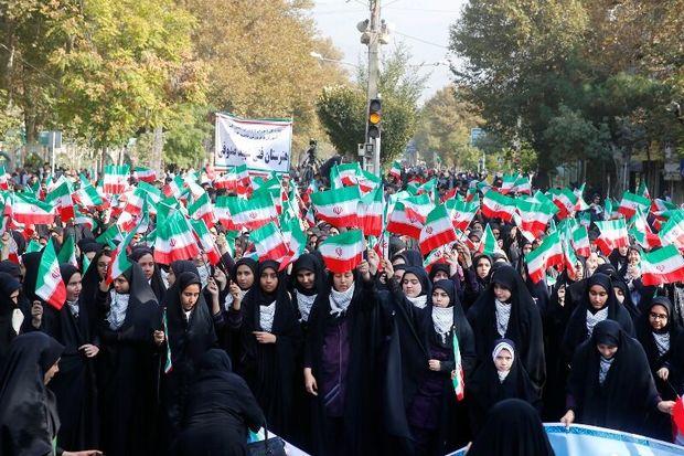 قدردانی از حضور پرشور مردم البرز در راهپیمایی ۱۳ آبان