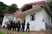 افتتاح مسکن مددجو و دیدار مسئولان با خانواده های شاهد در آستارا