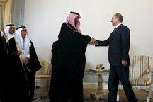 پوتین: مسکو و ریاض با هم برای دستیابی به راهکار بحران سوریه کار میکنند