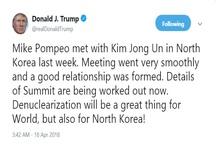 مهر تایید ترامپ بر دیدار رئیس سیا و رهبر کره شمالی