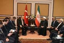 روحانی و اردوغان روابط دوجانبه و مسائل منطقه ای را مورد گفت وگو قرار دادند