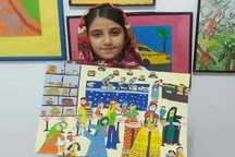 کودک دزفولی مقام دوم مسابقات نقاشی بین المللی را کسب کرد