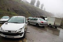 مه غلیظ در جادههای خلخال حادثهساز شد