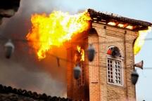 اطفای کامل حریق مسجد جامع ساری/18 نفر زخمی شدند