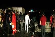 تصادف زنجیرهای هفت خودرو  در جاده سمنان - دامغان 12 مجروح بر جا گذاشت