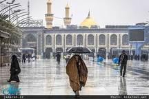 تصویری زیبا از بارش باران در حرم امام حسین(ع)