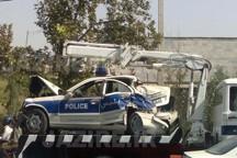 راننده بی احتیاط دو مامور پلیس راه را مصدوم کرد