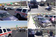 تصادف ۲ خودرو سواری در تهران ۲ مصدوم داشت