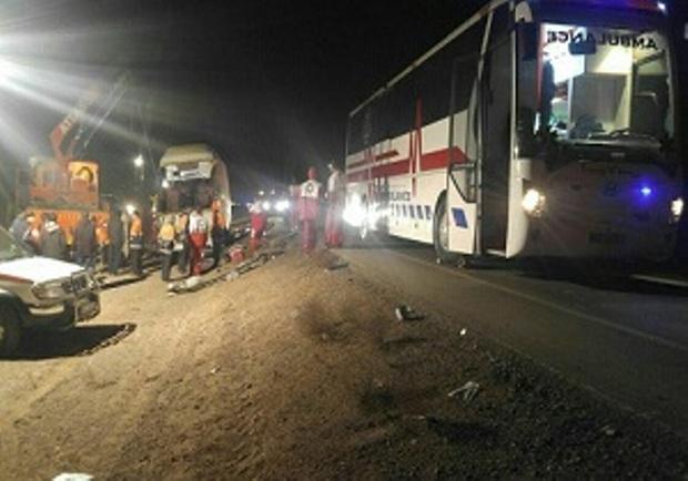 خوابآلودگی راننده علت اصلی واژگونی اتوبوس در جاده دیهوک -فردوس