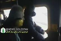 بازدید هوایی وزیر کشور و وزیر امور اقتصادی و دارایی از مناطق سیل زده گلستان