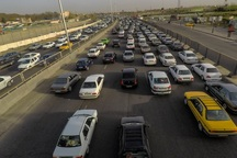 تردد خودروها در جاده های خراسان شمالی افزایش یافت