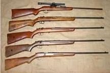 کشف و ضبط دو قبضه اسلحه شکاری در شفت