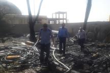آتش سوزی در انبار شرکت آب و فاضلاب روستایی پلدختر