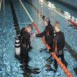 تمرینات فضانوردان روسی در استخر+ تصاویر