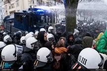 درگیری پلیس و مخالفان ضد راست افراطی در آلمان+ تصاویر