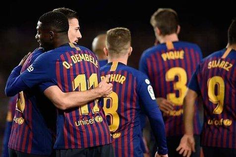 بارسلونا در فاصله ۳ امتیازی تا فتح لالیگا قرار گرفت