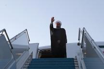 رئیسجمهور روحانی عازم تهران شد