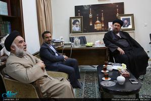 دیدار جمعی از اعضای مجلس علمای شیعه اروپاه با سید حسن خمینی
