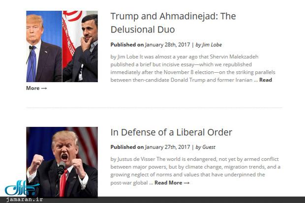 شباهت ترامپ به احمدی نژاد از نگاه یک رسانه آمریکایی