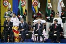 تصاویر/ حواشی دیدنی مراسم تحلیف رئیس جمهور کلمبیا