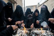 شمع هایی که برای عزای امام حسین(ع) روشن می شوند
