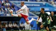 تساوی دانمارک و استرالیا در گروه C جام جهانی