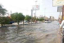 بارش شدید باران موجب آبگرفتگی خیابان ها و معابر شادگان شد