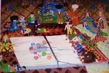 دیپلم افتخار مسابقات بین المللی نقاشی سرزمین مادری در دست نوجوانان گمیشان