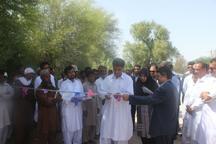 28 کیلومتر جاده بین مزارع در بخش زرآباد کنارک افتتاح شد