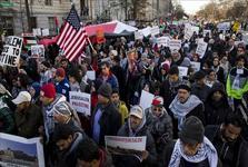 تظاهرات گسترده در مقابل کاخ سفید علیه تصمیم ترامپ درباره قدس