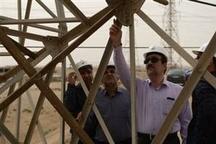 خسارت ۴۰ میلیارد ریالی تند باد به شرکت برق منطقه ای خوزستان