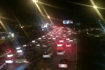 ترافیک مبادی ورودی مشهد سنگین است