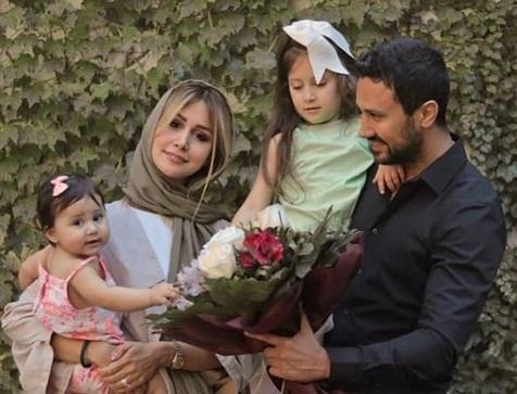 شاهرخ استخری در کنار همسر و فرزندانش+ عکس