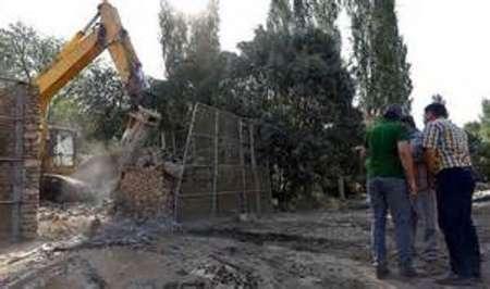 تخریب 6 مورد تصرف حریم و بستر رودخانه کرج