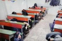 دانش آموزان البرز مقابله با زلزله را تمرین کردند