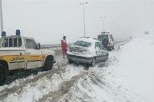 ارتفاع برف در گردنه زمزیران مهاباد به 70 سانتی متر رسید