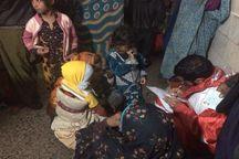 25 خانوار عشایری گرفتار سیل در شهرستان زیرکوه امداد رسانی شدند