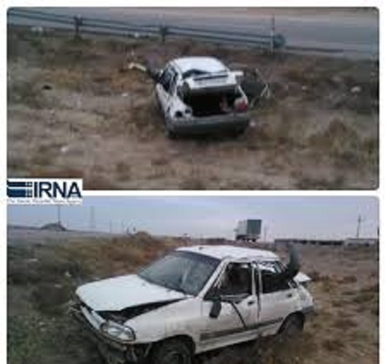 واژگونی خودرو در بجستان چهار مصدوم داشت