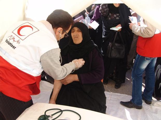 خدمات درمانی رایگان به جمعی از محرومان هلیلان ارائه شد