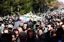 پیکر شهدای حادثه سقوط بالگرد هوا نیروز در اصفهان تشییع شد