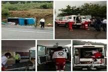 واژگونی خودروی نیسان در آستارا، هفت مصدوم برجا گذاشت