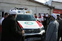 خودرو ست نجات به هلال احمر زرینه تحویل داده شد