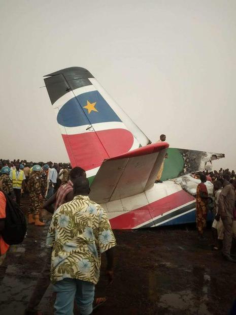 سقوط هواپیمای مسافربری در سودان+ عکس