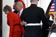 عکس/ استقبال ترامپ از نخستین میهمان خارجی