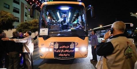 اتوبوسهای ایرانی برای جابهجایی زوار به عراق اعزام شد
