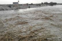 سیل ارتباط روستای رضاآباد بیارجمند راقطع کرد