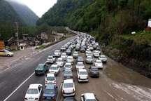 ترافیک شامگاهی، جاده های مازندران را قفل کرد