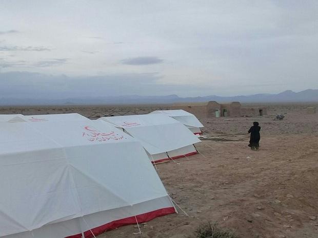 اهالی دو روستای سربیشه در مکان امن اسکان یافتند