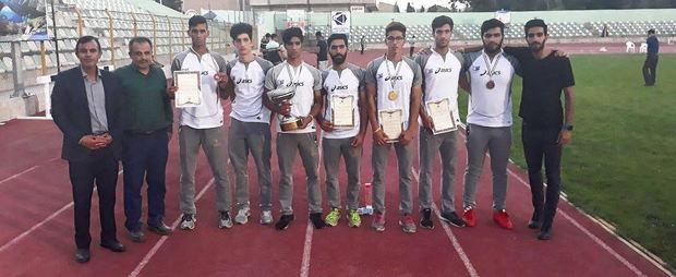 نایب قهرمانی استان قم در مسابقات دومیدانی قهرمانى جوانان کشور